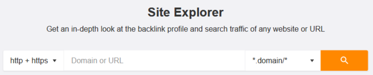 ahrefs site explorer search bar