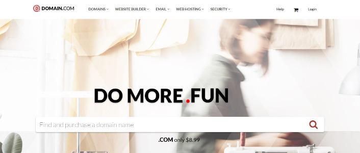 Domain.com Web Page