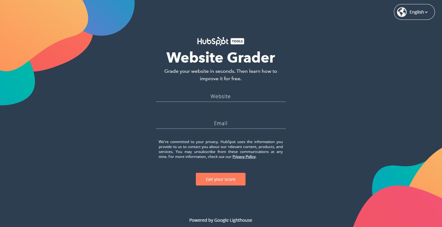 HubSpot's Website Grader Homepage