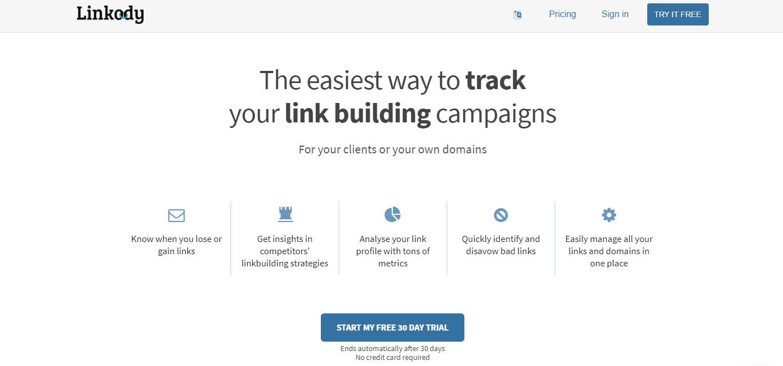 Linkody Homepage