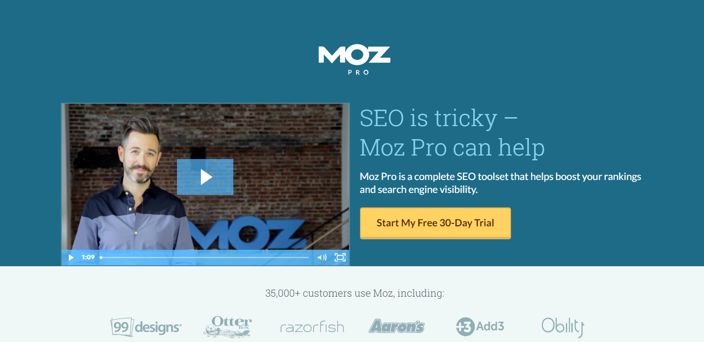 Moz Pro Homepage
